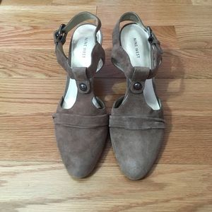 Nine West Taupe Heels